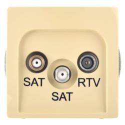 SIMON BEŻ GNIAZDO SAT-SAT-RTV (BMZAR+SAT3.1-P2.01/12)